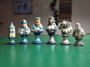 Chess set-leather wrapped chess set by Tannereye