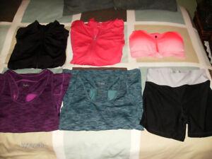 Women's Athletic Wear, Size Small (Tops, Jackets, & Pants)