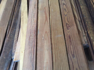 Vintage reclaimed pine flooring