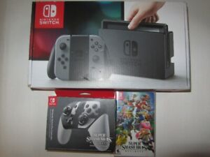 Brand new-Nintendo Switch Console with Super Smash Bros.