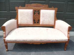 Antique settee love seat bench