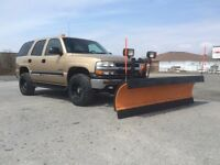 Lifted Tahoe W/ Arctic Plow $6800