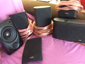 Polk Audio Surroundsound Speakers and Denon Receiver