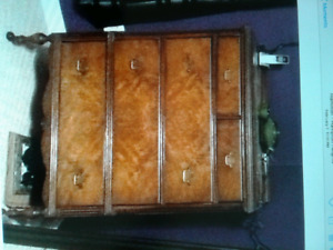 ANTIQUE Mahogany Double Bed Suite with mattress and box spring