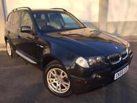 2005 55 BMW X3 3.0D AUTO SE **9 SERIVCE STAMPS** FULL CREAM LEATHER 4X4