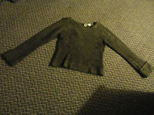 Ladies Size L/G Long Sleeve Charcoal Mix Cuffed Sweater Kingston Kingston Area image 1