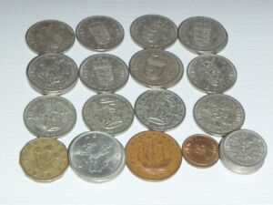 England Variety of Coins