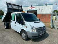 64 FORD TRANSIT CREW D/CAB 125PS ONE STOP DROPSIDE TIPPER WITH TOOL STORAGE!!