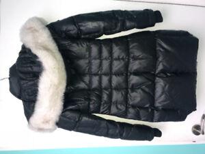 Nicole Benisti jacket with white fox fur size small