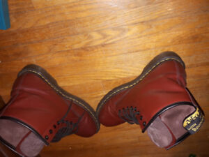Cherry Red Size 11 Doc Martens 1460 Boots Shoes Timberland Nike