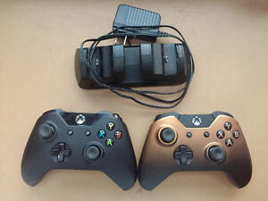 Xbox One controllers + charger