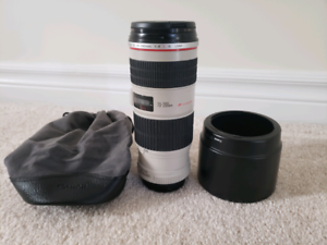 Canon EF 70 - 200 mm 1:4 L IS USM lens Ultrasonic - Used