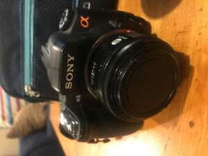 Sony Alpha A350 Camera and 2 Lenses