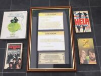 THE BEATLES. A GREAT COLLECTION OF FIVE EXTREMELY RARE AND OUTSTANDING WONDERFUL ITEMS.