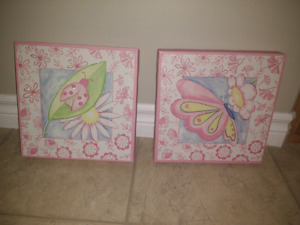 Butterfly and ladybug canvas