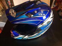 THH open face crash helmet, Size M.