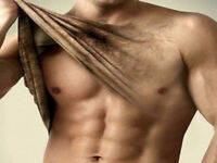 LASER HAIR REMOVAL MAN'S UPPER BODY $185 P/S FOR LIMITED TIME!