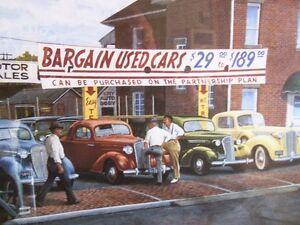 Limited Edition Print Automotive Art 'THE WHEELER DEALER' Kitchener / Waterloo Kitchener Area image 6