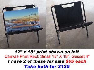 """CANVAS PRINT RACK SMALL 15"""" X 18"""", GUSSET 4"""""""