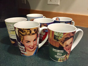Collection of 6 Anne Taintor mugs