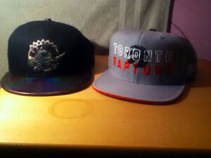 Collection of snapback hats