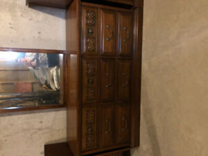 Downsizing! Great condition solid wood furniture.