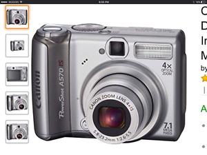 Canon A570 camera