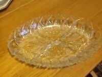 Glass segmented serving dish