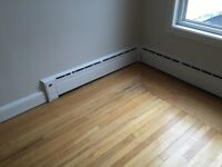 Cast iron baseboard heaters (with corner adapter)