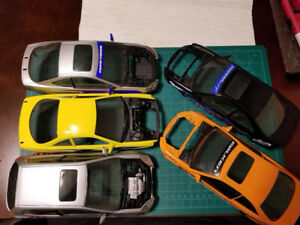 1:18 Five Hot Wheels JDM Cars, Honda Civic, Acura Integra, SiR