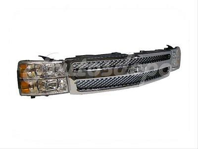 FOR 07 08 09 CHEVY SILVERADO 1500 LS CHR GRILLE HEADLIGHT 3