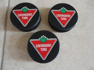 Lot of 3 brand new ice hockey pucks