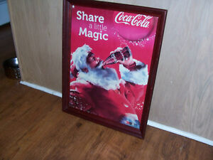 Framed Coke Ad 18 by 24