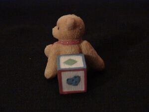 "Cherised Teddies Figurine  ""Bear With #7 Block"". London Ontario image 4"