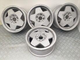"Borbet a 14"" 4x100 6J deep dish alloy wheels"