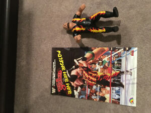 WWF LJN Bam Bam Bigelow with Poster RARE Wrestling Figure WWE