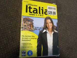 Instant Immersion - Italian - Levels 1,2 and 3 - New, Open Box