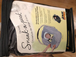 Jolly jumper sneak a peek car seat cover for infant