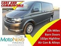 2015 65 VOLKSWAGEN TRANSPORTER T6 T28 SWB HIGHLINE 140PS (BARN DOORS) 2.0 DIESEL