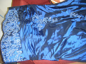 brand new blue dress with jacket, a lot of diamond