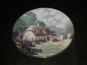 Thomas Kinkade STONEGATE COTTAGE 1992 Plate in original Box