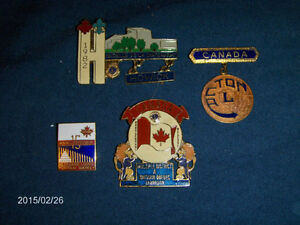 4 QUEBEC LION'S CLUB PINBACKS-1970/80S-HOWICK, ACTON, MTL.+