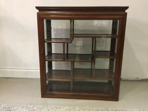 Rosewood High Quality Display Cabinet