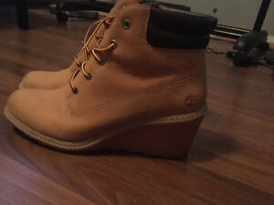 Timberland boots and wedges