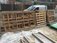 24 pallets. Free to good home