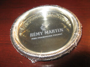 Remy Martin Set of 4 Coasters NEW IN PKG (silver plated)