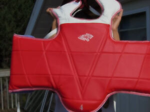 chest protector size 4 tae kwon do