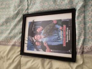 Signed and framed trailer park boys picture