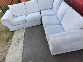 Large chesterfield style corner sofa
