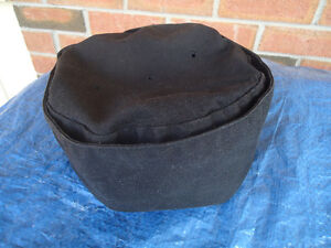 BLACK CHEF'S HAT WITH VELCRO REAR FASTENER NEW